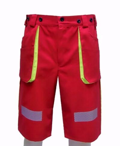 1f33b48bf3ce BOSSMAN Red - krátke pracovné nohavice Hasiči