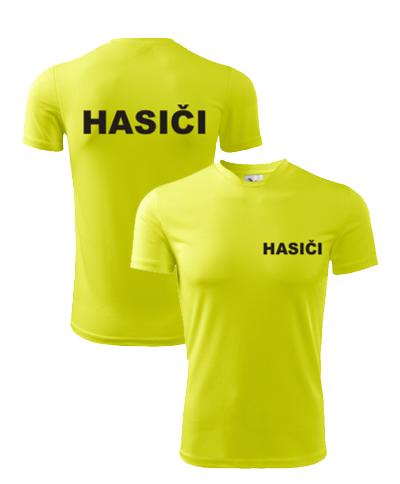 2b31e2f75c2b tričko HASIČI neonová žltá unisex