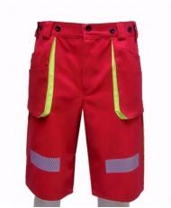 BOSSMAN Red - krátke pracovné nohavice Hasiči d0a1bc38593